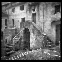 Halo Of Ashes (Giorgio Verdiani) Tags: light blackandwhite italy 6x6 film clouds start buildings mediumformat florence italia nuvole campania cloudy xp2 staircase workshop scala firenze sa bakelite ilford salerno biancoenero 400asa leaks 400iso edifici seminario nuvoloso pellicola pouva irpinia medioformato architecturefaculty fatroll facoltdiarchitettura alburni bachelite salvitelle infiltrazioneluce progettazionedinuoviruoliperterritoriinabbandono