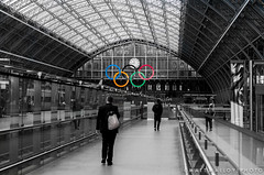 Welcome to London 2012 (MM Photo's) Tags: england color colour london station june st 35mm nikon unitedkingdom rings olympic f18 pancras 2012 london2012 explored mattmalloy stpancreasstation mattmalloyphotography