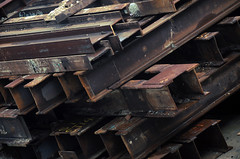 Construction materials (faungg's photos) Tags: china street hk metal hongkong site nikon waiting asia iron steel rusty scene pile mm 香港 18200 vr d90 piledup constructional 建设 建筑工地 钢铁 堆积