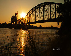 039 copy (jackgray0000) Tags: bridge sunrise arkansas arkansasriver excellentgallery