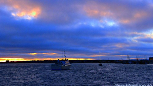 Sunset at the Harbor, Morro Bay California
