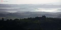 Around San Gimignano - Italy (Nino H) Tags: morning italy mist nature landscape san italia gimignano tuscany toscana paysage toscane italie brume matin mywinners gettyimagesitalyq1