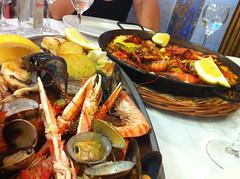 Seafood and paella