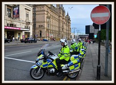 What's The Seagull Thinking ! (Stephen Whittaker) Tags: blue light liverpool nikon king traffic lol band scottish police prince william led marching bmw motorcycle scotch piper limestreet merseyside orangeorder greatwesternhotel orangelodge merseysidepolice d5100 whitto27