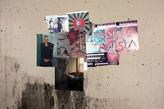C07 (damonabnormal) Tags: street city urban streetart pasteup pastedpaper art philadelphia collage fuji wheatpaste streetphotography july urbanart pa pasted philly fujichrome phl 2012 urbanite x100 fujix100