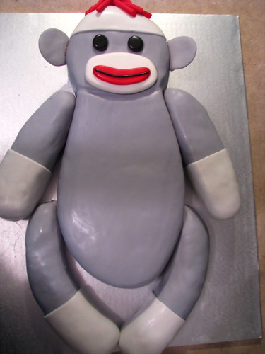 Sock monkey cake!