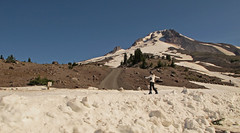 path up the Miracle Mile at Mt Hood Photo