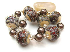 Cappuccino (Beguiled By The Bead) Tags: silver necklace jewelry pearls jewellery lampwork sterlingsilver