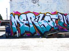 Merlot (Velvety Violets) Tags: sf graffiti oakland video mural paint merlot piece letgo