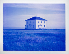 (patrickjoust) Tags: ocean camera blue sea house canada building film home water saint st analog rural america project polaroid coast lawrence focus gulf quebec country north patrick rangefinder 350 automatic land instant 100 manual ideal expired joust peninsula qc impossible the gaspsie perc gasp autaut patrickjoust
