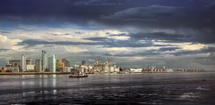 Beautiful Liverpool (Lee Carus) Tags: summer ferry skyline liverpool river mersey 2012