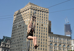 zipline (greenelent) Tags: nyc people newyork streets photography nikon women streetphotography photoaday 365 zipline zip nycstreets summerstreets