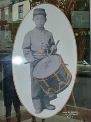 Little Drummer Boy, civil war photo (Aldene.Gordon) Tags: slavecollar civilwarartifactsstorelittledrummerboy
