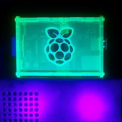 Fluorescent Black Lighting (dujoducom) Tags: lighting make diy pi blacklight cutting laser raspberry enclosure rpi raspberrypi
