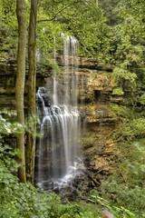 Virgin Falls 1, Virgin Falls SNA, White Co, TN (Chuck Sutherland) Tags: summer white water waterfall tennessee falls geology karst sna whitecounty statenaturalarea virginfalls virginfallssna