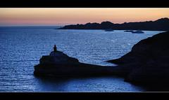 Bonifacio - Madonnetta lighthouse (Sante sea) Tags: sunset sea lighthouse france faro tramonto mare corse corsica francia bonifacio