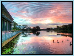 Lake Eden (Expressive Imagery) Tags: sunset sky lake beautiful clouds photoshop sunrise landscape photo ducks australia brisbane eden hdr hdri topaz lightroom photomatix