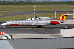 1Time Airline | McDonnell Douglas MD-83 | ZS-OPX | special livery | Cape Town International (Dennis HKG) Tags: plane canon airplane southafrica airport aircraft capetown 1d cpt fact mcdonnelldouglas planespotting md80 100400 1time zsopx