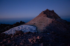 Self Portrait on Lassen Peak (Joe Stylos) Tags: california selfportrait snow ice volcano dusk lassenvolcanicnationalpark lassenpeak joestylos