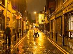 Star (Magic Pea) Tags: man streets london rain night photography photo streetphotography cobbled motorbike hoxton eastlondon hoxtonsquare magicpea