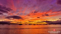 Safe Harbor (Thūncher Photography) Tags: ocean sunset hawaii nikon maui sailboats fullframe fx hdr lahaina d700 nikond700 nikkor1635mmlens