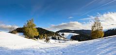 First snow on Sv. Duh na Ostrem Vrhu (Alja Vidmar | ADesign Studio) Tags: autumn panorama snow tree nature clouds landscape wideangle jetstream slovenija styria photostitching ruleofthethirds tajerska nikond5000 svduh