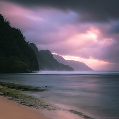 Ke'e Beach (Silent G Photography) Tags: longexposure travel sunset seascape landscape hawaii nikon northshore kauai keebeach reallyrightstuff 2014 rrs squre travelphotography nikond800 markgvazdinskas silentgphotography silentgphoto