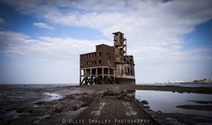 Abandoned History. (Ollie Smalley Photography (OSP)) Tags: ocean old longexposure blue sea seascape building london abandoned industry nature water clouds canon island graffiti war moody natural outdoor decay exploring horizon tripod shoreline nopeople landmark estuary erosion coastal le urbanexploration pools lee historical 5d lowtide 24mm manual derelict mudflats vignette canoneos tidal manualfocus medway channel brickwork manfrotto magiclantern osp isleofgrain urbex 15seconds lseries ndfilter manualmode rivermedway llens bulbmode manualexposure neutraldensity canon24105mm 5d2 10stopfilter 5dii canon5dmarkii fortgrain leebigstopper olliesmalleyphotography abandonedhistroy