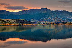Lake Hayes || QUEENSTOWN || NZ (rhyspope) Tags: new autumn sunset lake pope reflection water sunrise island town south zealand nz queenstown arrow hayes rhys arrowtown rhyspope