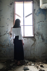 (.Rabbit.Hole.) Tags: old light house abandoned home window girl beautiful fashion vintage project photography spring hipster may rusty 2016
