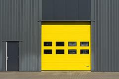 Yellow and grey door (Jan van der Wolf) Tags: door lines yellow architecture contrast grey doors geel architectuur grijs lijnen map153145v