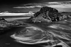 moving around (rainbow wasabi) Tags: ocean blackandwhite seascape beach nature water monochrome oregon landscape coast rocks waves pacific northwest shoreline