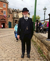 Day out at Beamish Museum, County Durham - the Bank Manager (Snapshooter46) Tags: people beamish bowlerhat openairmuseum gentleman countydurham smartlydressed bankmanager flycollar