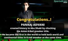 Congratulations! Pankaj Advani (SportsBrick.com) Tags: world sports asian indian titleist pankajadvani snookar sportsbrick