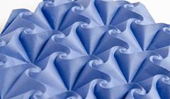 Mermaid-B #origami tessellation, side view (_Ekaterina) Tags: blue sea paper spiral origami curve tessellation paperfolding corrugation tant ekaterinalukasheva