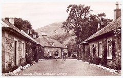 Luss Village, Loch Lomond. (Paris-Roubaix) Tags: vintage cyclists scotland office store women village post antique scottish postcards loch lomond touring luss