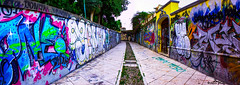 Cagliari street art  (89lilly) Tags: sardegna street city italy panorama streetart colour art canon photography italia sardinia arte colorfull picture pic panoramica walls draw disegni colori cagliari muri stradina scritte lovephotography coloribellissimi canon550d