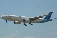 Garuda Indonesia A330-341 PK-GPG (fakhrizainar) Tags: airport airbus a330 balikpapan a330300 skyteam garudaindonesia sepinggan