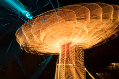Navy Pier Centennial Wheel (ronitbez) Tags: longexposure chicago color wheel night lights centennial mirro ferris ferriswheel navypier rides bluehour chicagoist sonya7