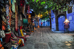 A street at ChefChaouen by night... [ChefChaouen, Morocco - 2012] (Jose Constantino Gallery) Tags: trip travel morocco viagem chefchaouen 2012 marrocos tangiertetouan byjoseconstantino joseconstantino grupoolhandoomundo lookingattheworldgroup