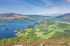 Derwentwater delight (MichaelGrolys) Tags: uk blue trees england sky mountains green water clouds lakedistrict trails cumbria derwentwater keswick
