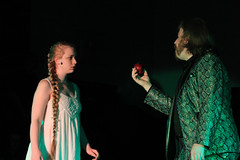 (Performance) Eve is tempted by the snake, with the fruit of the Tree of Knowledge IMG_0519 (ForestPath) Tags: show eve apple theater play snake stage performance musical satan fruitofthetreeofknowledge nativityplayerscincinnatiohiousa likethesnakysuit