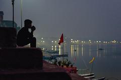 Pondering (ZeNfuZZ) Tags: alone candid silence thinking varanasi lone warrior pondering ganges banaras
