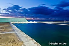Newcastle Baths - Dawn (RGA Photography) Tags: ocean heritage beach water clouds swim sunrise canon newcastle australia baths nsw sundance dslr lightroom 5dmkii