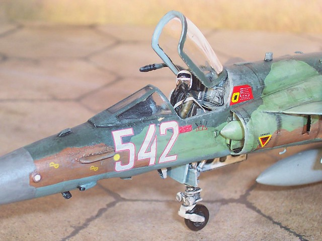 "1:72 IAI Kfir C.60; ""542"" Bulgarian Air Force, 1/3rd Fighter Squadron, Graf Ignatievo Air Base, 2010 (Italeri kit conversion/Whif) - Cockpit detail"