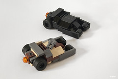 Batman Lego Tumblers / Micro version (_Tiler) Tags: lego camo micro batman joker dccomics batmobile rocketlauncher batmanbegins moc tumbler thedarkknight microscale legotumbler legobatmobile lego7888 thedarkknightrises lego7888thetumblerjokersicecreamsurprise