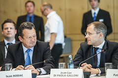 Ivan Hodac and Jean-Luc di Paola-Galloni at the Ministers' Roundtable in Leipzig
