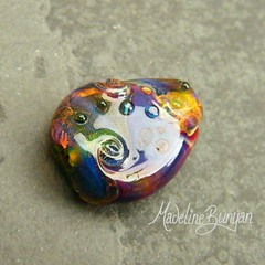 """Teal Green & purple mini focal Lampwork Bead • <a style=""""font-size:0.8em;"""" href=""""https://www.flickr.com/photos/37516896@N05/6997746237/"""" target=""""_blank"""">View on Flickr</a>"""