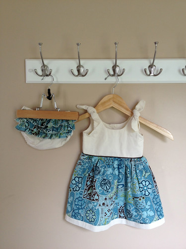 3-6 mos Itty Bitty Dress w. Ruffle Bum Bloomers