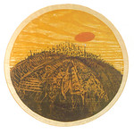 """<b>Dubuque Hill 674</b><br/> Lloyd R. Menard """"Dubuque Hill 674"""" Woodcut, ca. 1967 LFAC #104 Fine Arts Festival Date: 12-7-67 to 12-16-67<a href=""""http://farm8.static.flickr.com/7272/7045834279_ec1b6e9f74_o.jpg"""" title=""""High res"""">∝</a>"""